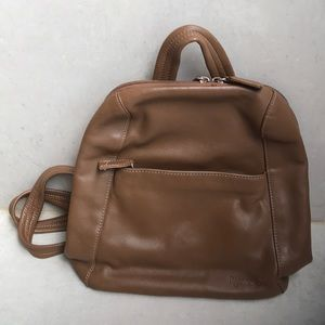 Tignanello leather backpack purse
